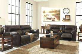 ashley recliner sofa signature design by acieona with drop down table in slate reclining hogan disassembly