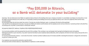 Bitcoin is an innovative payment network and a new kind of money. Fake Bomb Threat Emails Demanding Bitcoins Sparked Chaos Across Us Canada