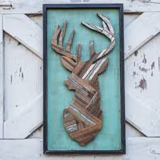 deer head made from reclaimed wooden pallets deer hunting wall decor man cave gift deer silhouette