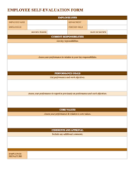 Free Employee Performance Evaluation Forms Magdalene