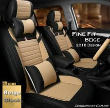 details about leather look beige black car seat cover fit land rover discovery evoque range
