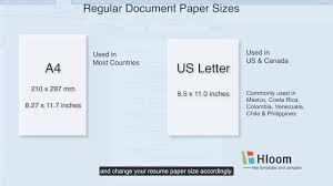 Resume Paper Size How To Change Paper Size in a Microsoft Word Resume Template YouTube 1