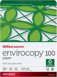 Amazon Com Office Depot 100 Recycled Envirocopy Copy Fax Laser