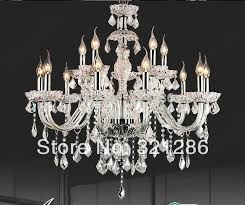 us 259 35 12 lights clear chandelier luxury brief fashion k9