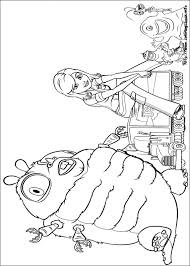 Monsters Vs Aliens Coloring Page Free Download