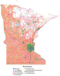 11 maps that explain minnesota's road network Mn Highway Map mn roads colored small mn highway map pdf