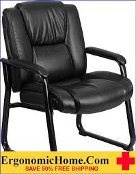 ergonomic home tough enough series 500 lb capacity big tall black leather executive side