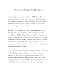 Unm Hospital Doctors Note Personal Health Record