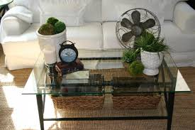 full size of furniture retro glass coffee table decor idea with old clock and decorative accents