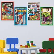 4pc marvel superhero classic comics 3d