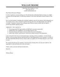 Amazing Accounting Finance Cover Letter Examples