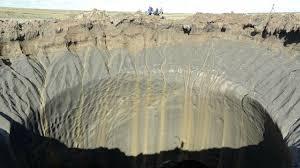 Resultado de imagen de Desaparece un equipo de investigación al descubrir un objeto metálico en el interior de uno de los cráteres de Siberia