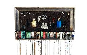 wall hanging jewelry holder storage best organizer ideas on and necklace diy proj