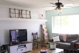 plank wall covers a living room wall