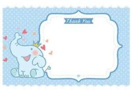 Baby Boy Thank You Cards Baby Boy Thank You Notes Letters New Baby Shower Party Gift Present Blue
