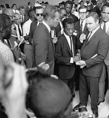 james baldwin baldwin right of center hollywood actors charlton heston and marlon brando at the 1963 on washington for jobs and dom