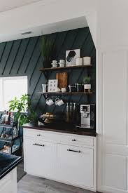 Choose a cozy corner of your kitchen or dining room and build your own ultimate coffee station.get the coffeehouse look by hanging a large chalkboard over your newly built masterpiece and don't forget to include a set of your favorite flavored syrups ($20).when your coffee bar is complete, learn how to make a. 6 Diy Coffee Station Ideas To Start Your Morning Diannedecor Com