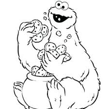 Cookie Monster Coloring Pages Drawing At Baby Page Head