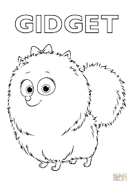 Gidget from the Secret Life of Pets coloring page | Free Printable ...