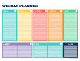 Weekly Planner Template Word 2019 Weekly Planner Template Fillable Printable Pdf Forms