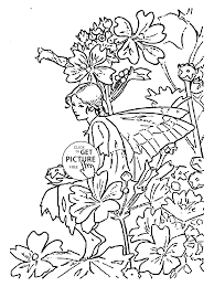 Small Picture Flower Fairy Mallow coloring page for kids for girls coloring