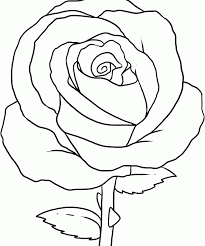 Flower pot coloring printable page for kids 12. Coloring Pages Rose Coloring Home