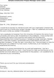 Best Ideas Of Cover Letter Template Construction Manager Fantastic