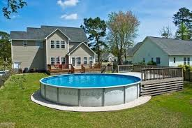 rectangle above ground pool sizes. Above Ground Pool Rectangle This Round Has A Small Deck On One End . Sizes