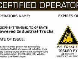 Free Printable Forklift License Template For Forklift