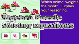 algebra math puzzle solving equations