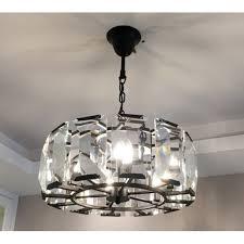 rh harlow crystal round chandelier