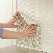Small Picture Install Tile Backsplash Press Glass Tile Into The Kitchen Wall