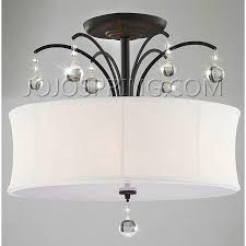 gorgeous white flush mount chandelier indoor 5 light antique bronze white shade flush mount chandelier