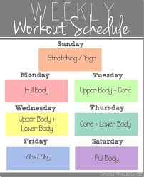 My Weekly Schedule My New Weekly Workout Schedule Fitness Fitness Workout Exercise