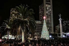 Union Square Christmas Tree Lighting 2017  Union Square Christmas Tree In San Francisco