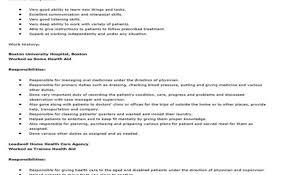 Cna Job Description Resume Resume For Study