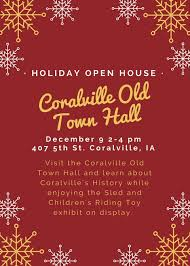 christmas open house flyer holiday open house at coralville old town hall johnson county