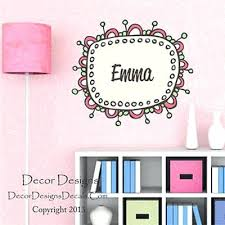 Decor Designs Decals Amazing Custom Name Wall Decor Girl Name Wall Decal By Decor Designs Decals