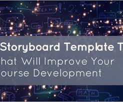 Storyboard And Templates - Elearning Learning