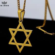 whole s steel 24k gold plated classic jewish star of david pendant necklace w 3mm 24inch miami cuban chain hip hop necklace k box gold chains diamond