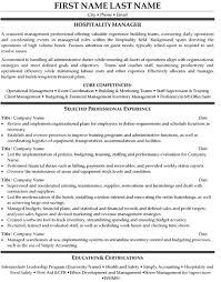 Hospitality Management Degree Resume Sales Management Lewesmr