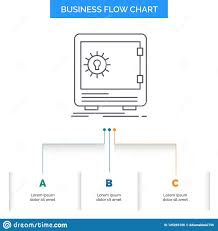 Bank Deposit Safe Safety Strongbox Business Flow Chart