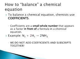 4 to balance a chemical equation some equations balanced examples pdf balancing reactions