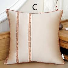 beige decorative pillows.  Beige Flowers Embroidered Decorative Pillows For Brown Sofa Beige Throw  Design With Beige Decorative Pillows P