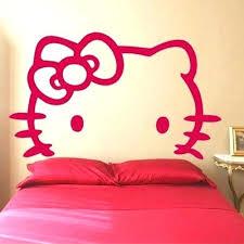 kitty room decor. Hello Kitty Room Design Stuff Appealing Headboard Simple Cute . Decor