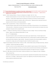 Blank Annotated Bibliography In Apa Style Templates At