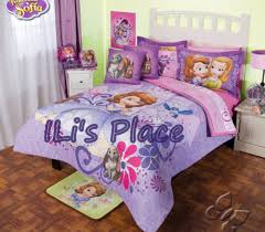 image of sofia the first toddler bedding full size