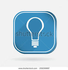 vector square blue icon lighting bulb. incandescent lamp light bulb color square icon vector blue lighting b