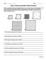 What Is Volume In Science Mass Volume And Density Without Numbers By Science Garage Tpt