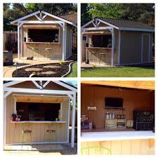 this is our custom made party bar shed it s 10x12 with two doors door